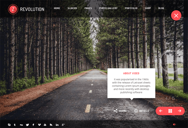 revolutionz photography portfolio wordpress theme
