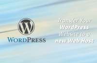 transfer wordpress website to new web host