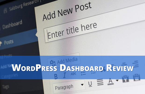 wordpress dashboard review