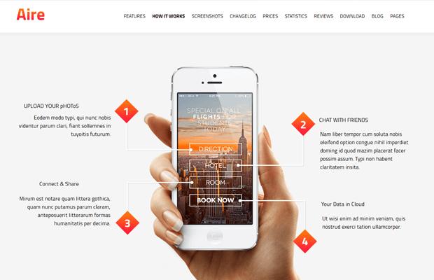 aire premium app development wordpress theme