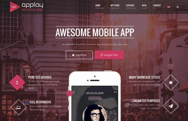 applay mobile application development wordpress theme