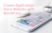 create professional application store website wordpress