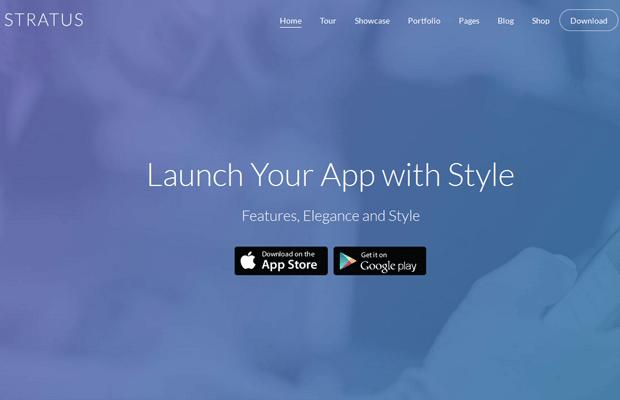 stratus wordpress app development theme