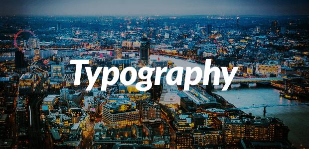 web design typography fonts