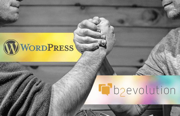 wordpress vs b2evolution comparison best blogging platform