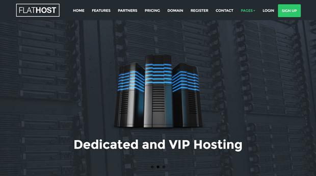 flathost css3 animated theme hosting business sites