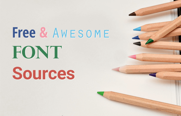 free and awesome font sources
