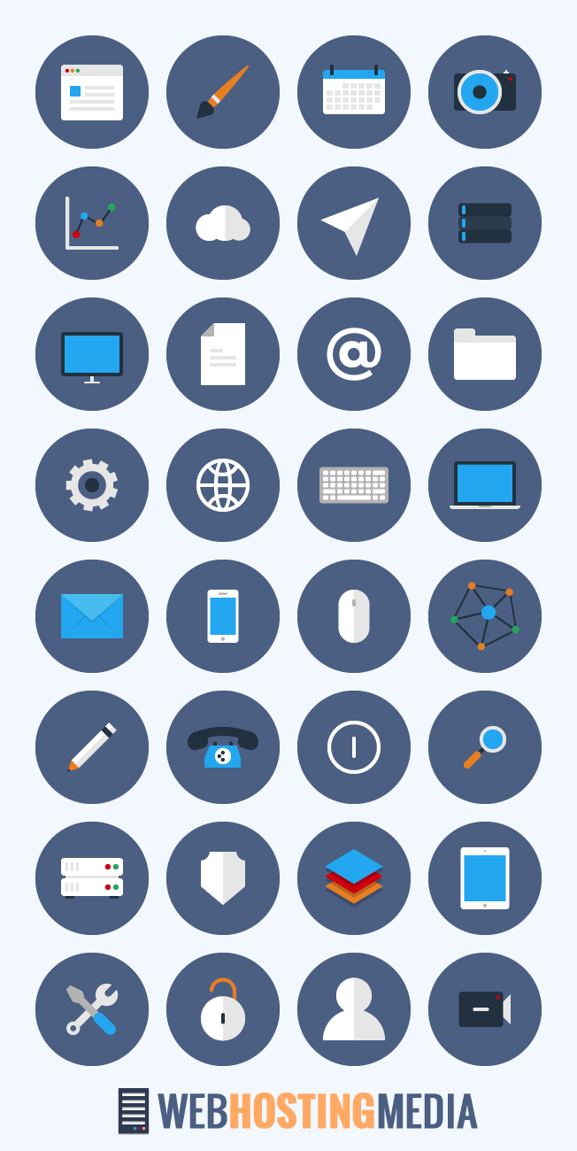 Free Flat Business Icon Set - PNG, PSD, AI, SVG