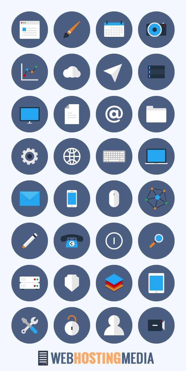 free flat business icon set webhostingmedia