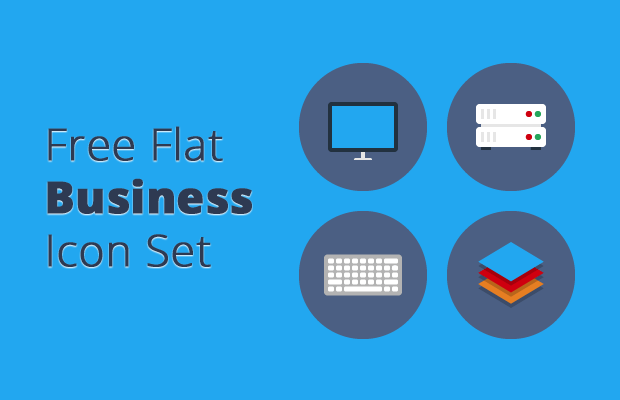 free flat business icon set