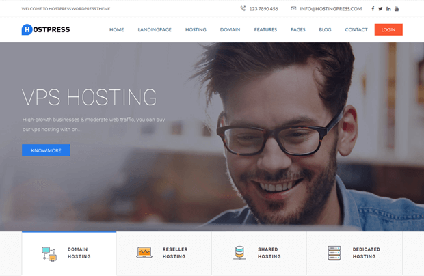 hostpress hosting company wordpress theme