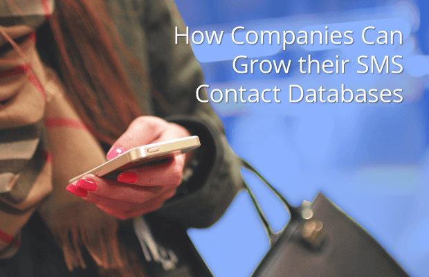 how companies can grow their sms contact databases