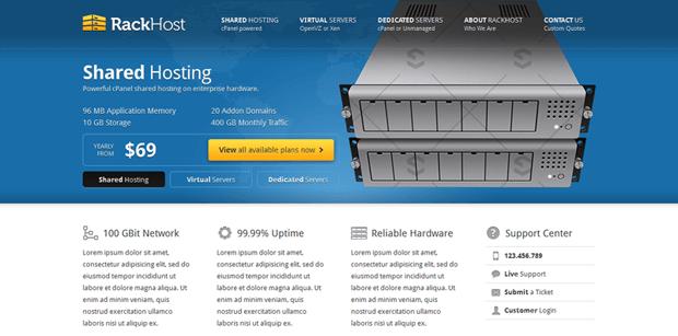 rackhost simple professional wordpress theme hosting