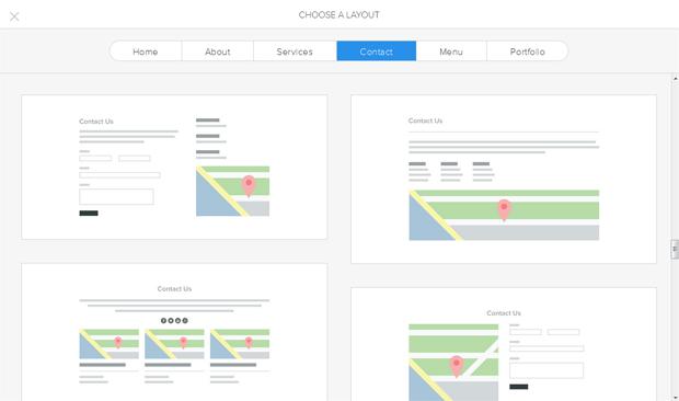 weebly choose page layout