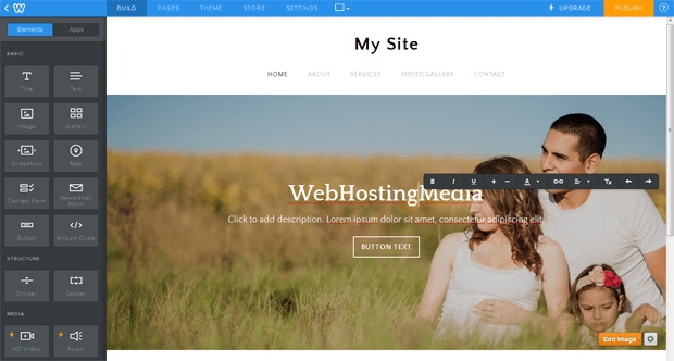 weebly edit theme drag and drop elements