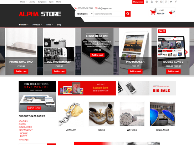 alpha store free woocommerce wordpress theme