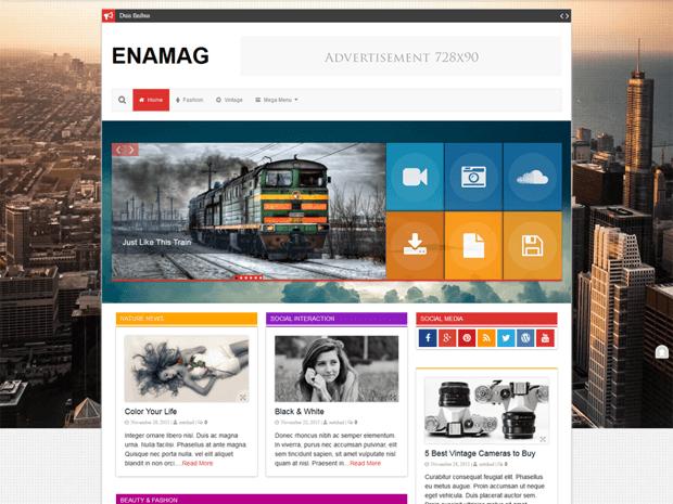 enamag free blog magazine wordpress theme