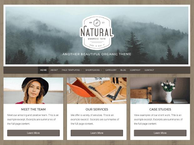 natural life wordpress theme