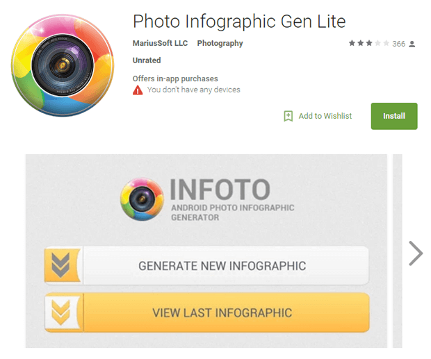 infoto free infographic google play application