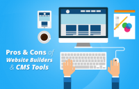 pros cons websites builders cms tools