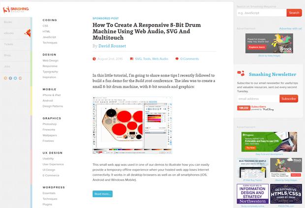 smashingmagazine best web design blog