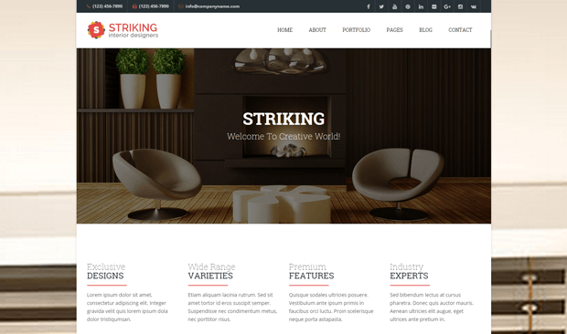 Interior design wordpress theme themeforest for Addison interior design decoration wordpress theme nulled