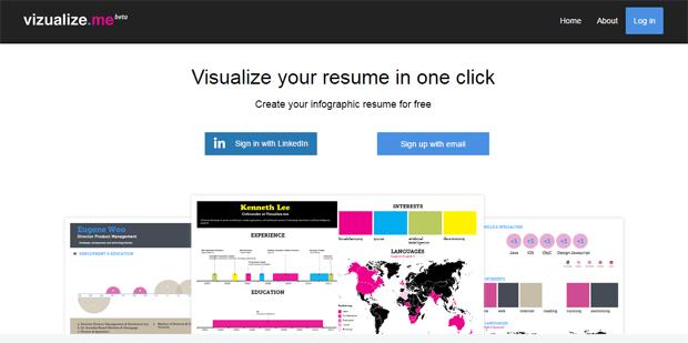 vizualize me resume infographic builder