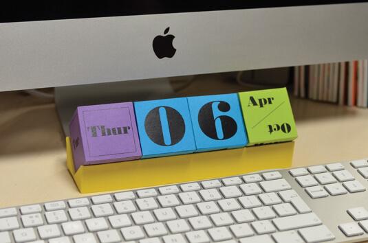 create 3d calendar indesign