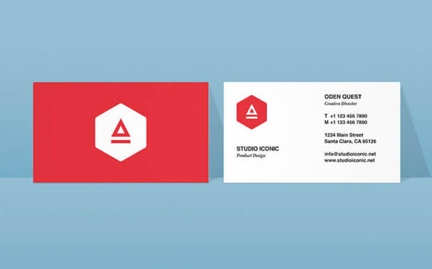 create modern business card indesign