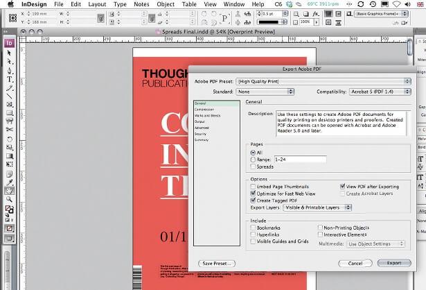 create newsprint publication indesign