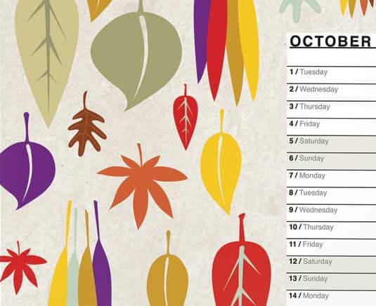 how to design calendar indesign