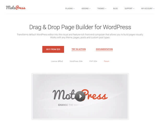motopress wordpress page builder