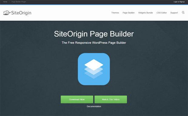 siteorigin wordpress page builder