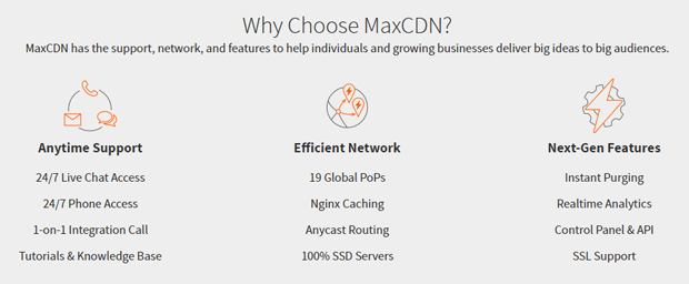 why choose maxcdn