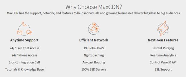 why choose maxcdn