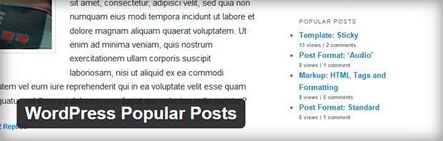 highly customizable wordpress popular post widget