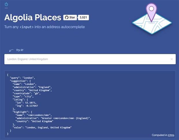 algolia places