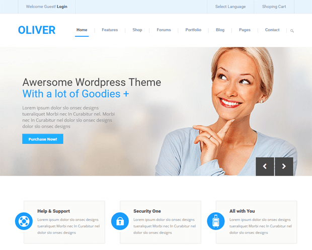 3 best responsive corporate website templates for your business oliver corporate website template fbccfo Gallery