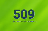 error 509 bandwidth limit exceeded