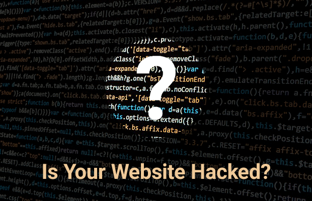 find out if website is hacked