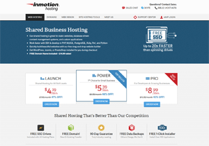 inmotion hosting free automated website backup