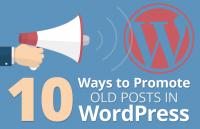 ways promote old wordpress posts
