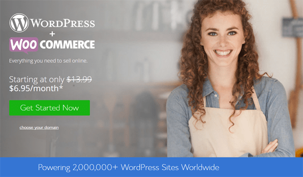 bluehost recommended woocommerce hosting