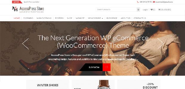 accesspress free woocommerce theme