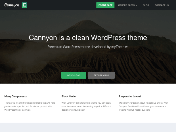 cannyon free wordpress theme