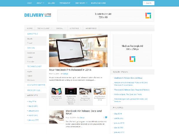 delivery lite free wordpress theme