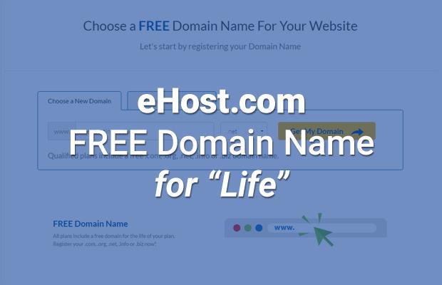 ehost.com free domain name