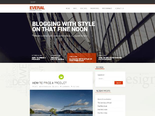 everal free wordpress theme