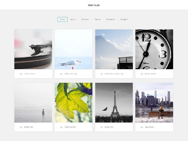 gk portfolio free wordpress theme
