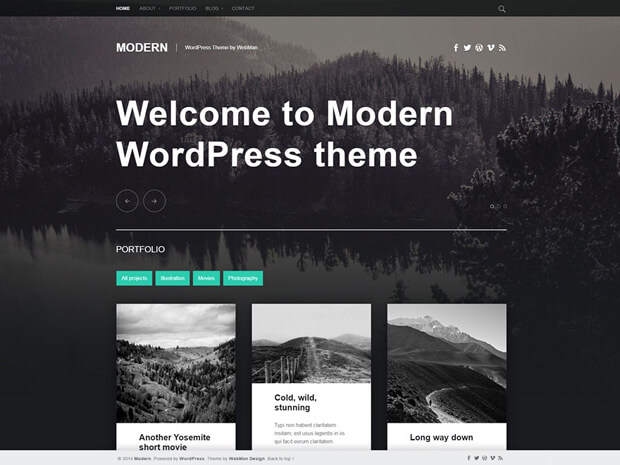 modern free wordpress theme